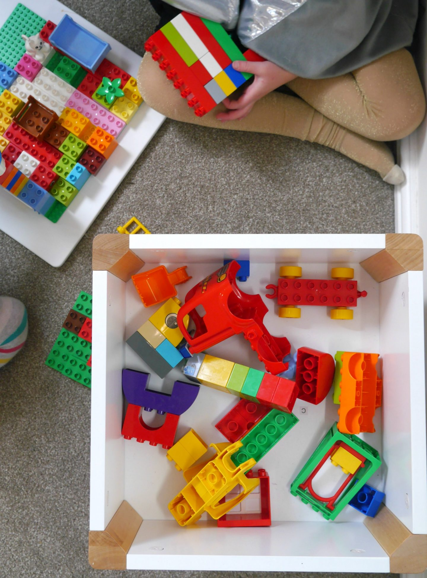 Making a Lego Duplo table - view from above