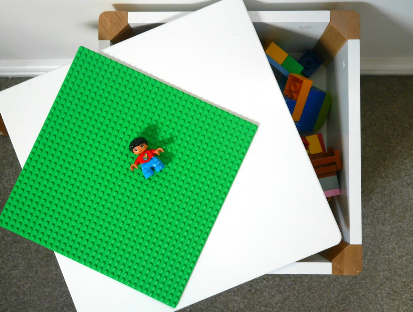 Making a Lego Duplo table with GLTC Potter storage stool