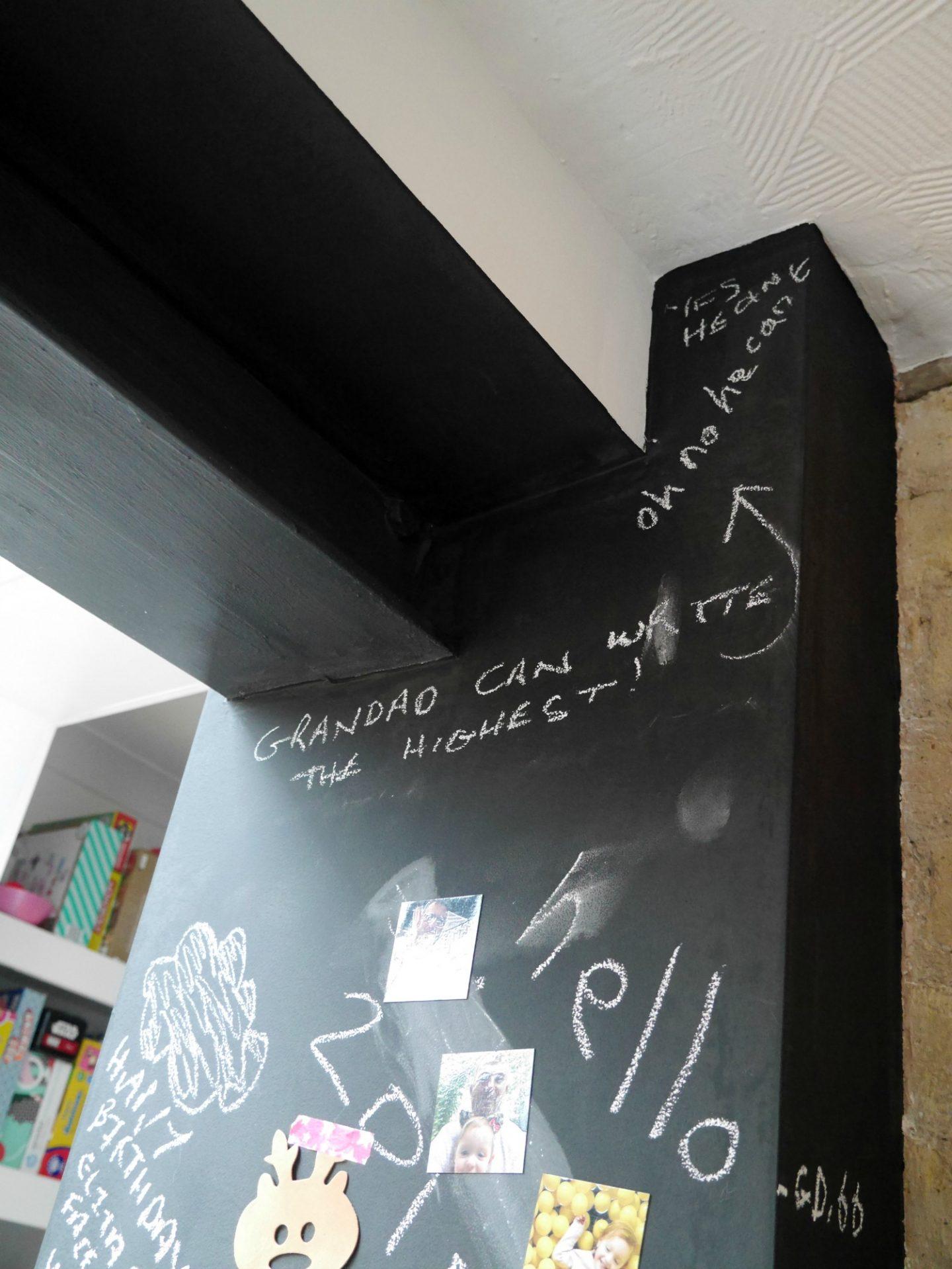 Chalkboard walls in kitchens - side return extension