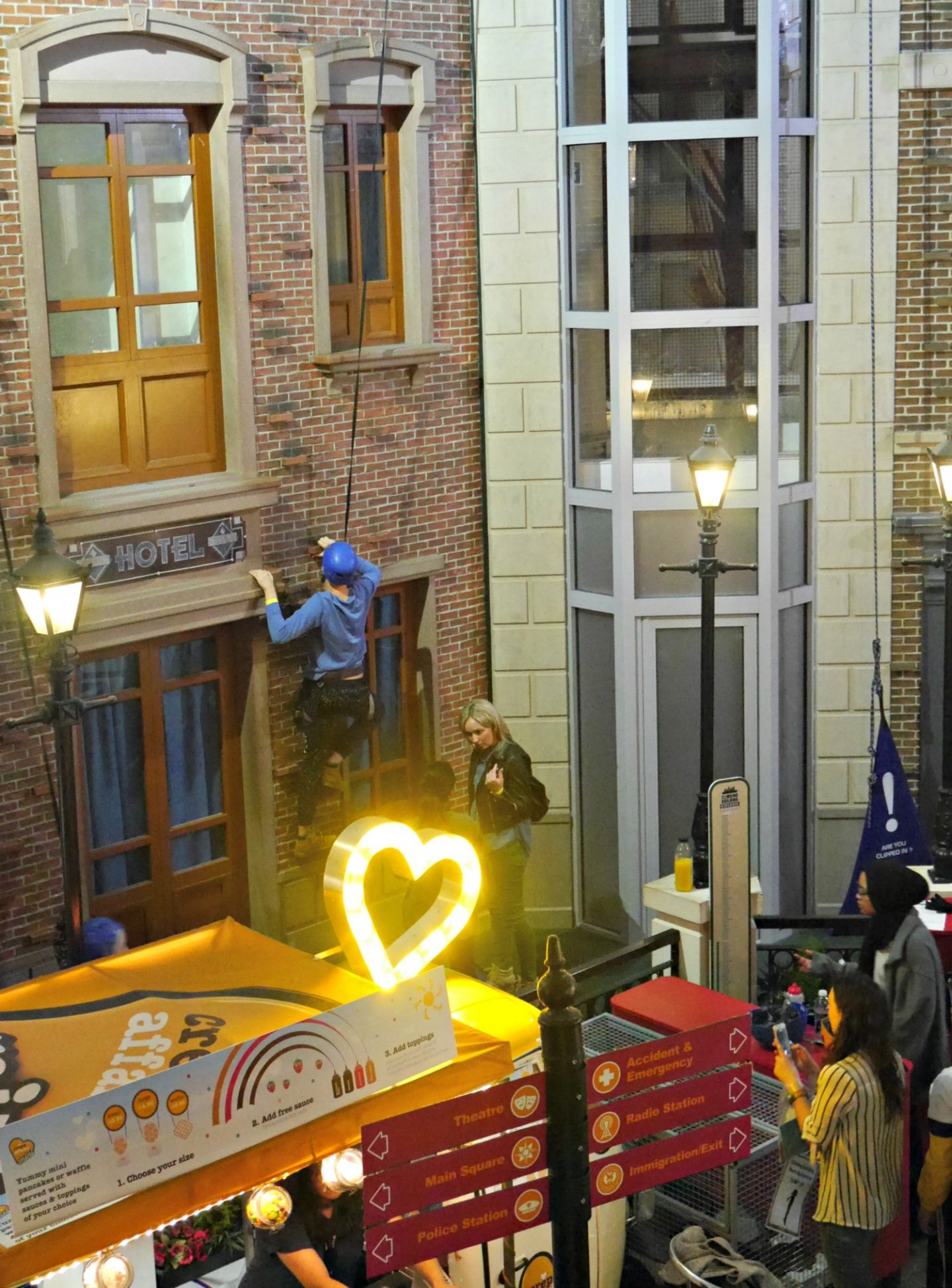 Kidzania London review - climbing wall