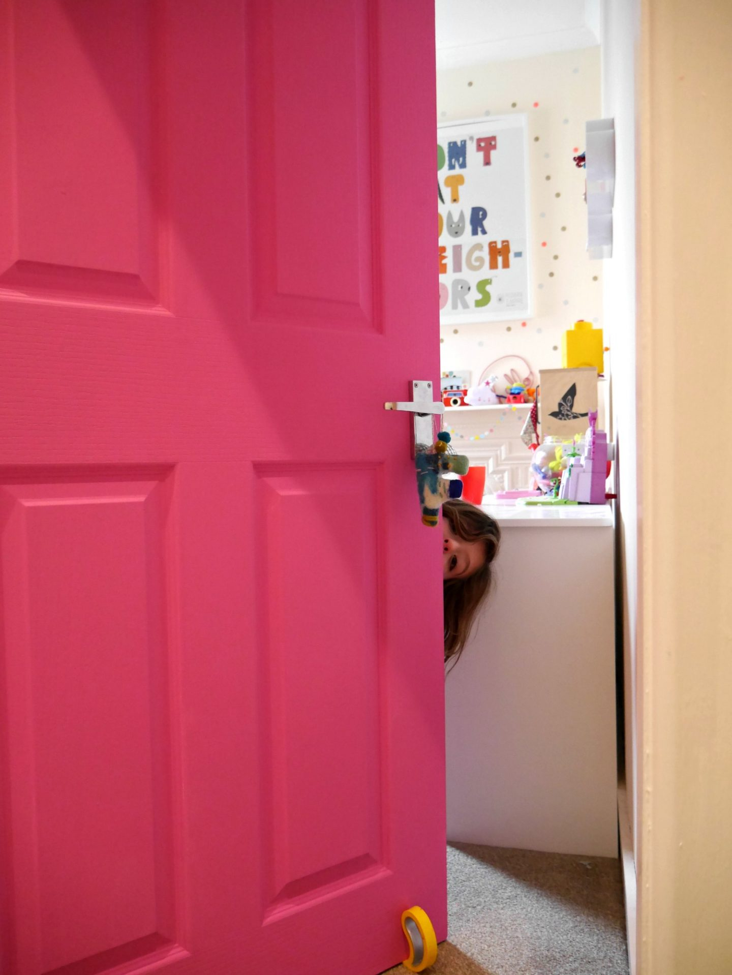 Pink doors in children's rooms
