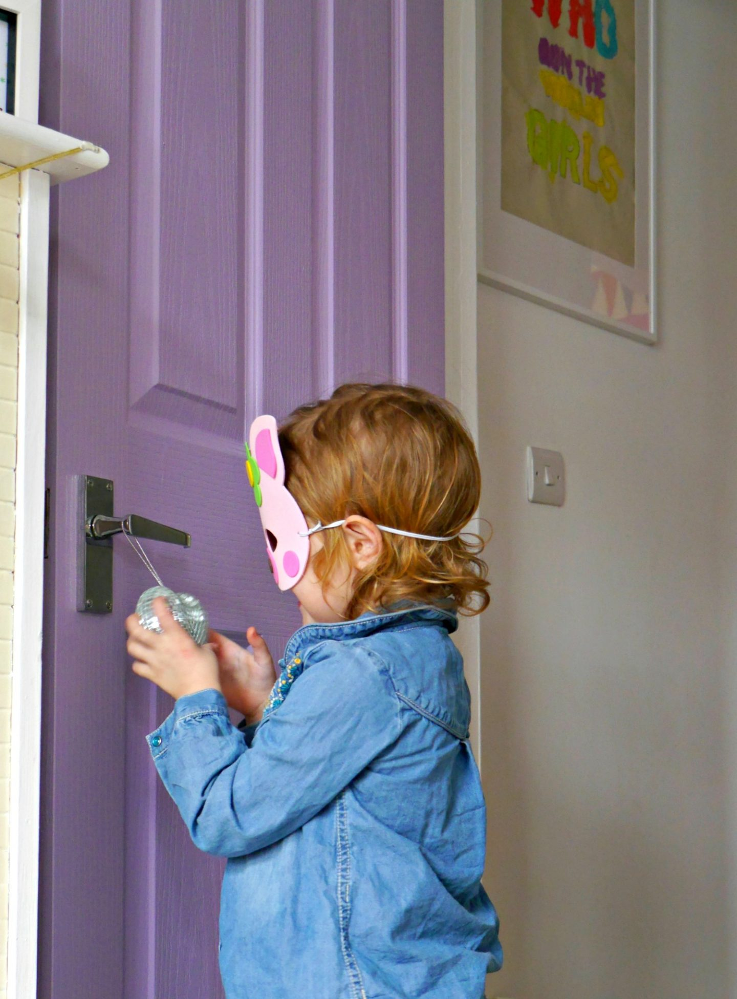 Purple doors in children's rooms