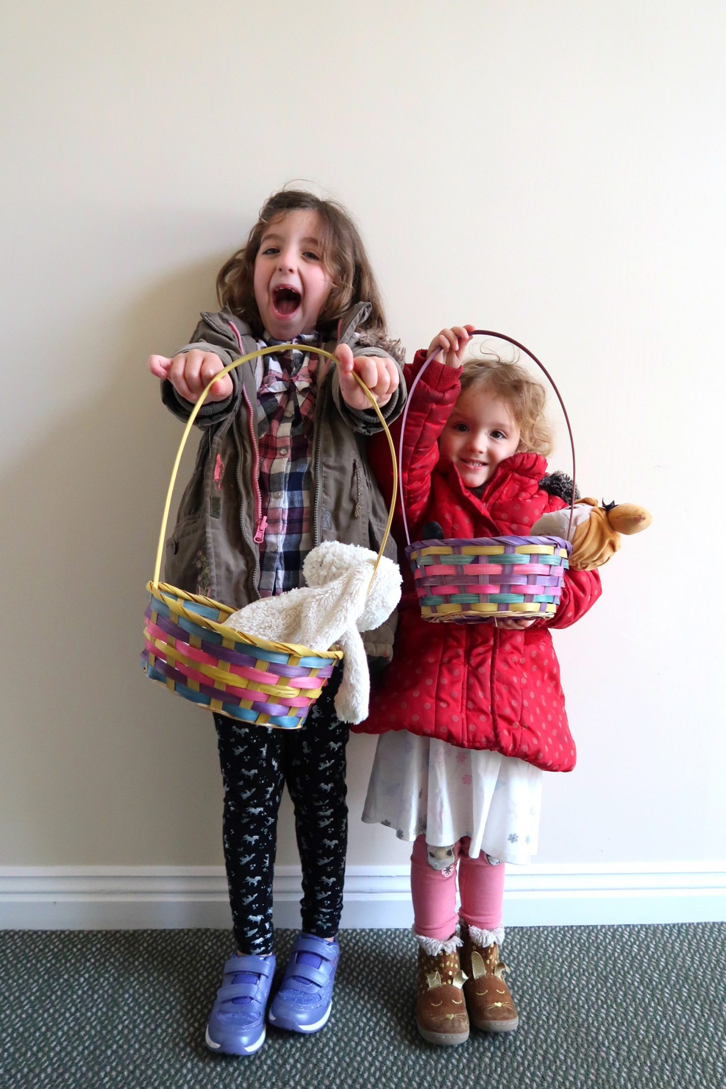 Easter Egg hunt with baskets