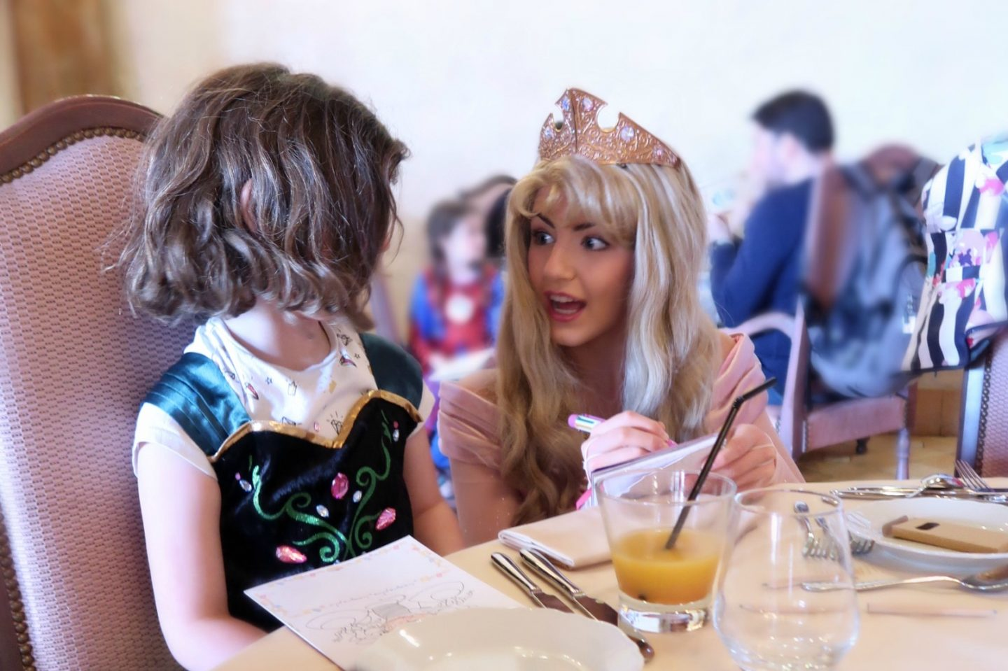 Cinderella at the princess lunch, disneyland paris