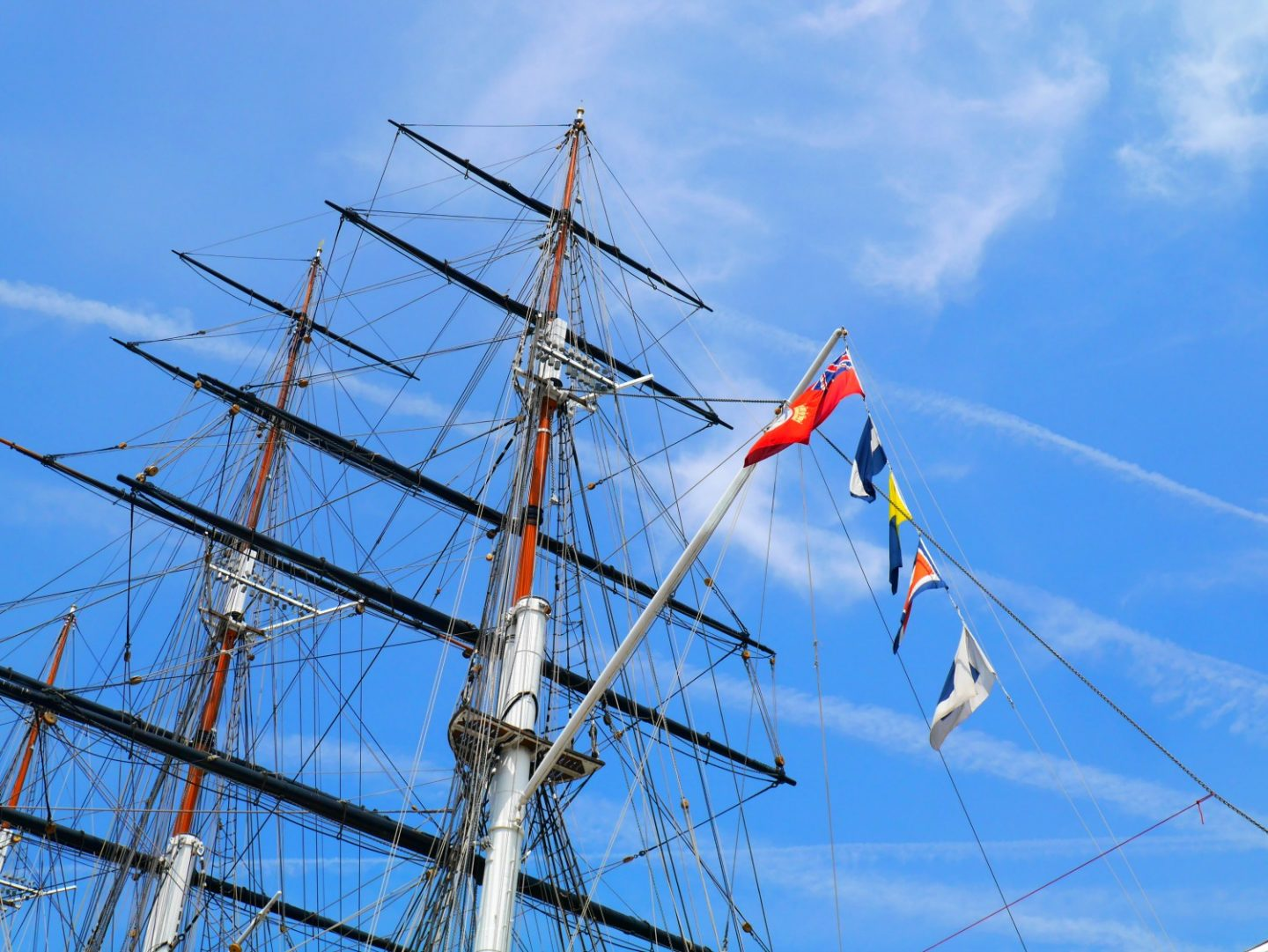 Cutty Sark review - top deck of the ship