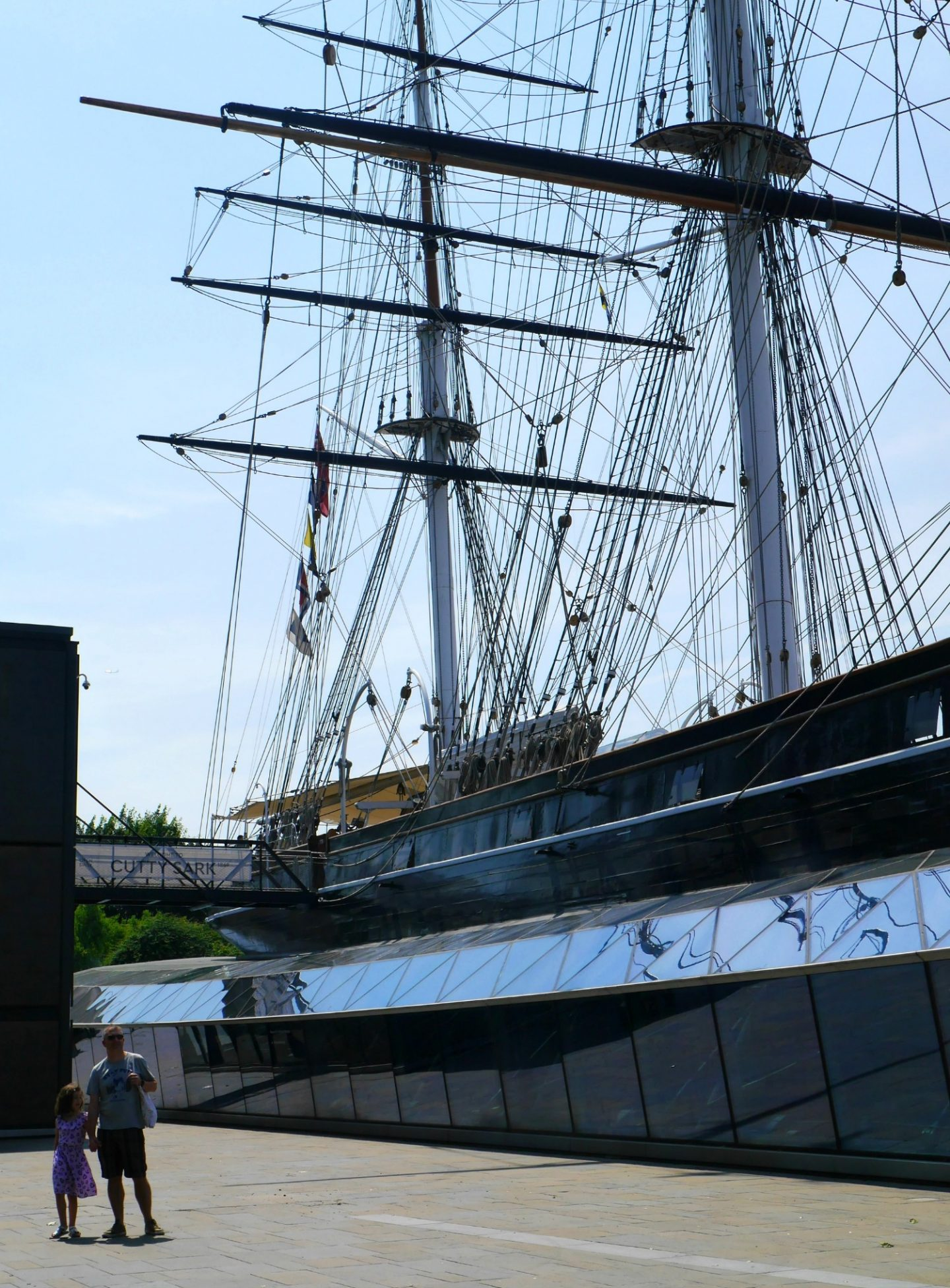 Cutty Sark review - view of the whole ship from outside