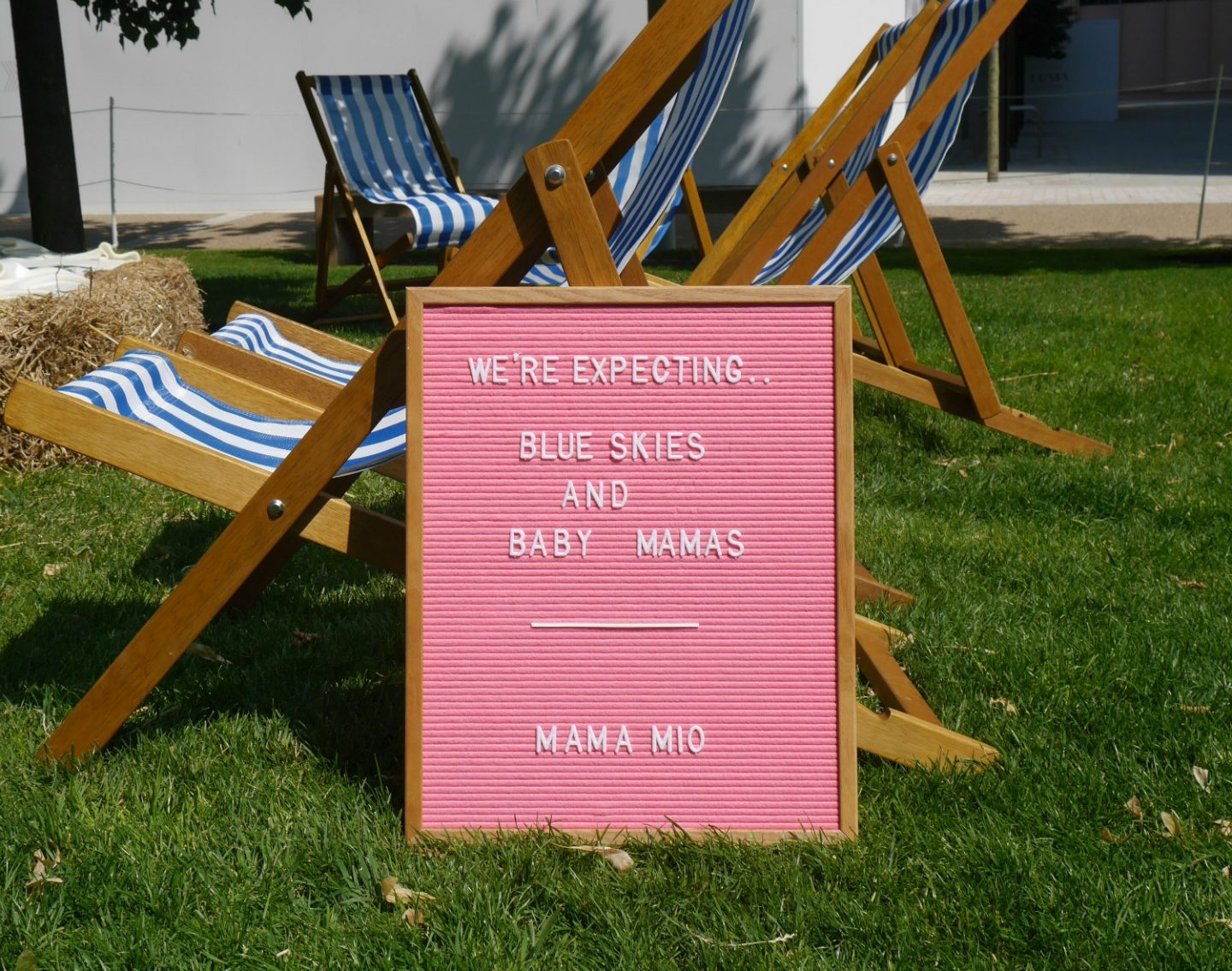 Mama Mio #expectingchange letter board