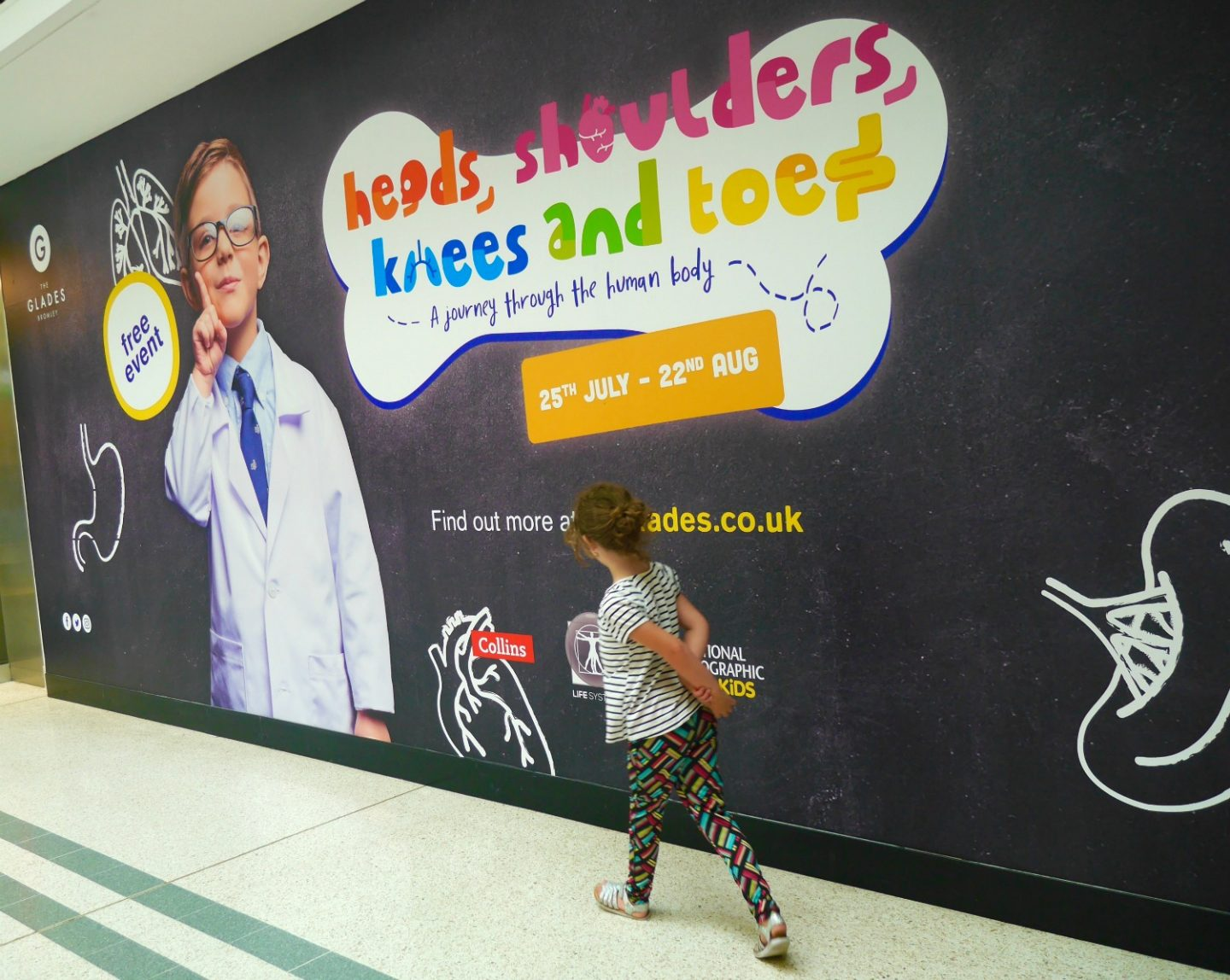 Heads, Shoulders, Knees and Toes at The Glades, Bromley - poster