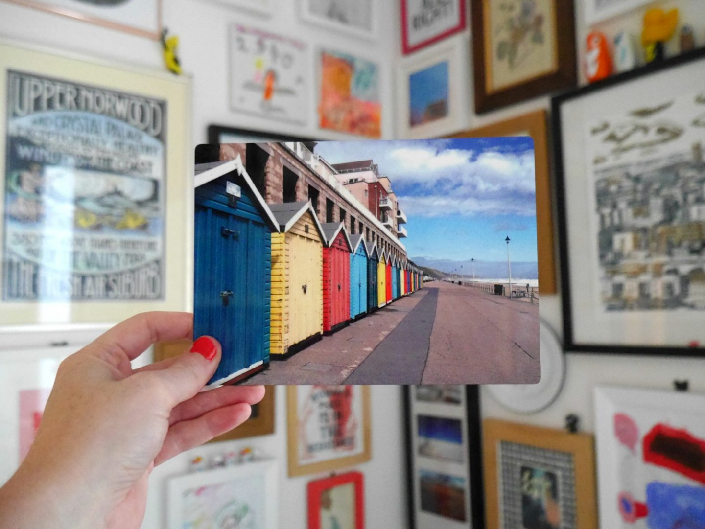 Snapfish review - metal photos of bournemouth beach huts