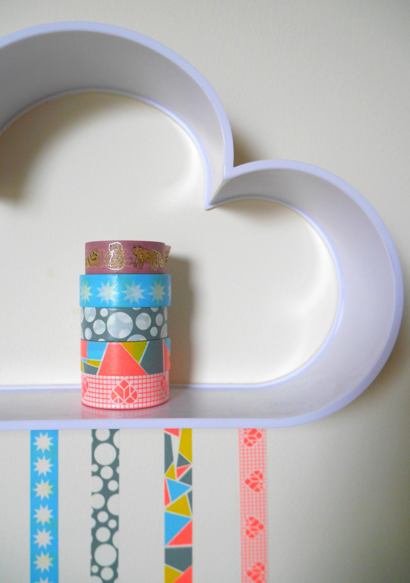 Cloud shelves - washi tape wall stickers