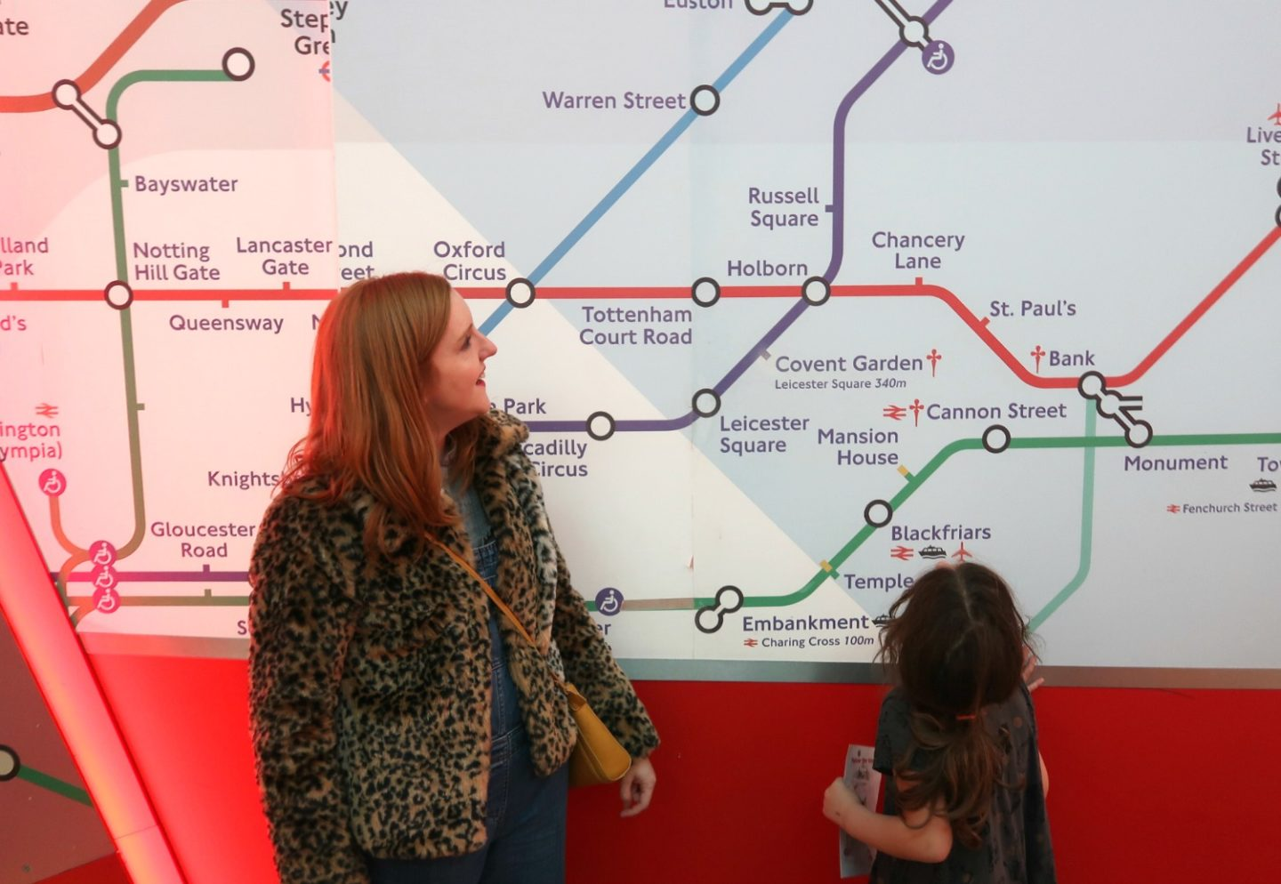 London Transport Museum - giant tube map