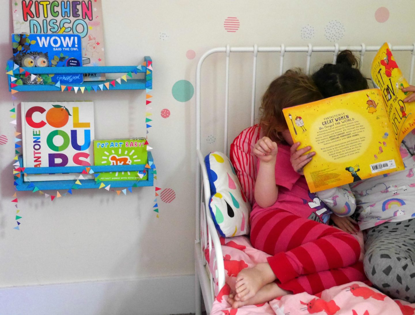 IKEA hack bookshelves and IKEA children's bed