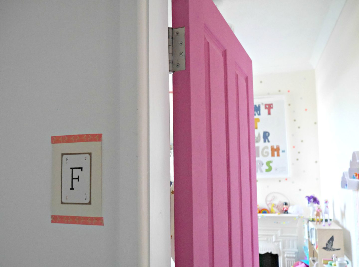 Pink doors in children's bedrooms - colourful eclectic rooms