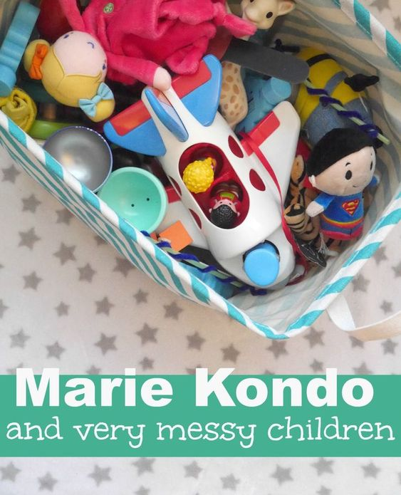 Marie Kondo organizing and very messy children - tips for dealing with mess and a tidy house when you have children