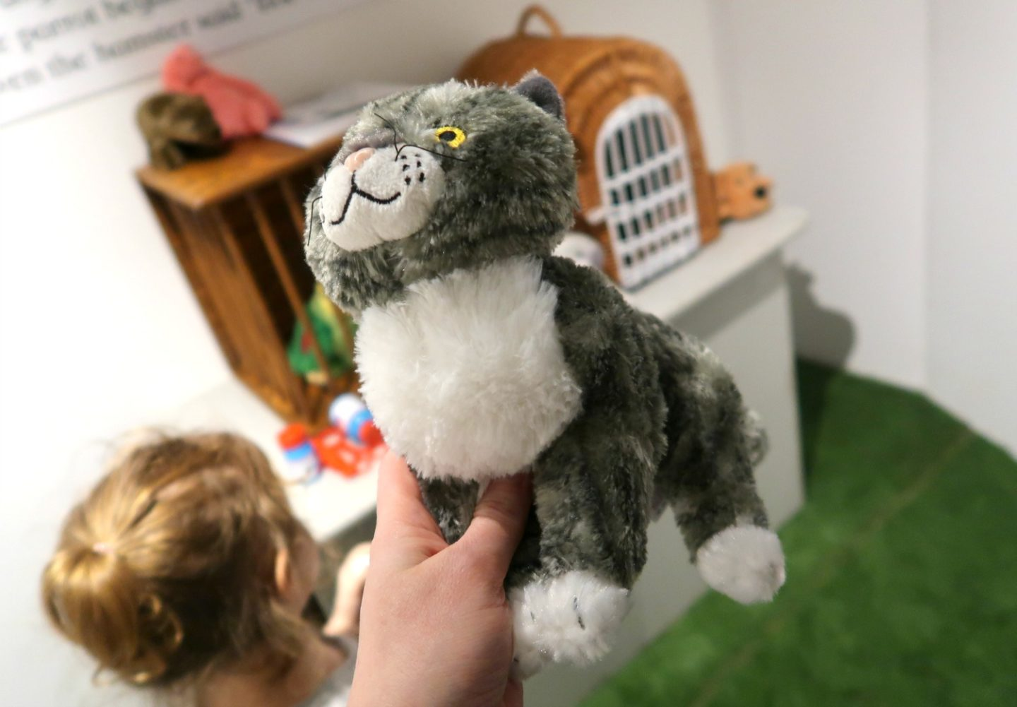 Mog the cat at the Discover Children's Story Centre