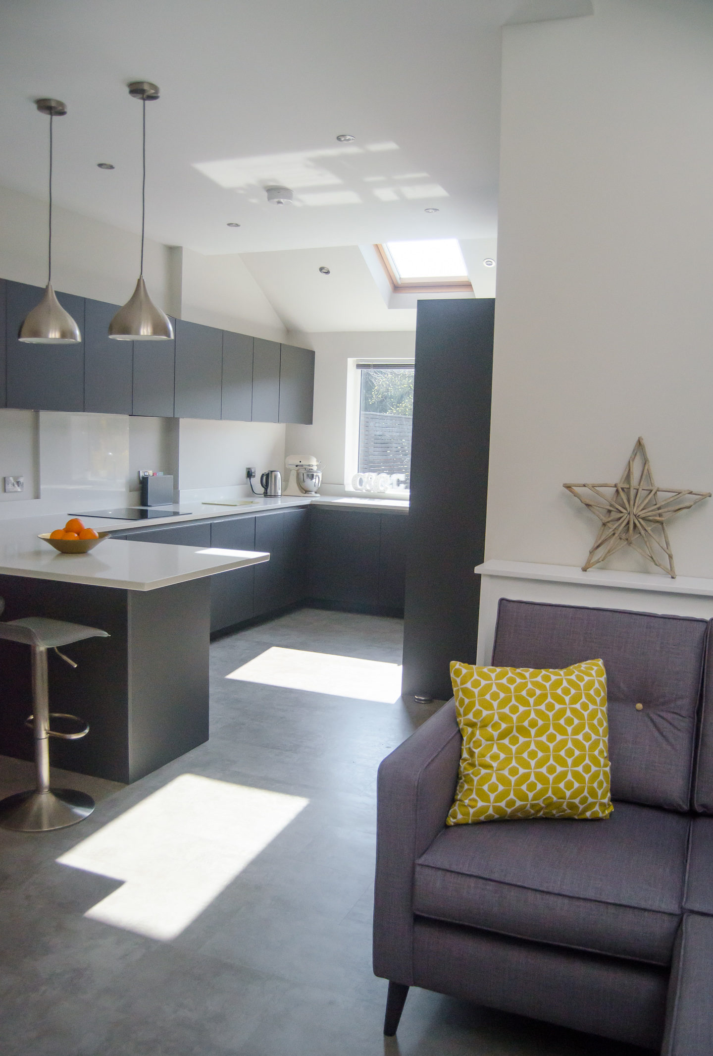 A light and bright modern kitchen extension with VELUX roof windows