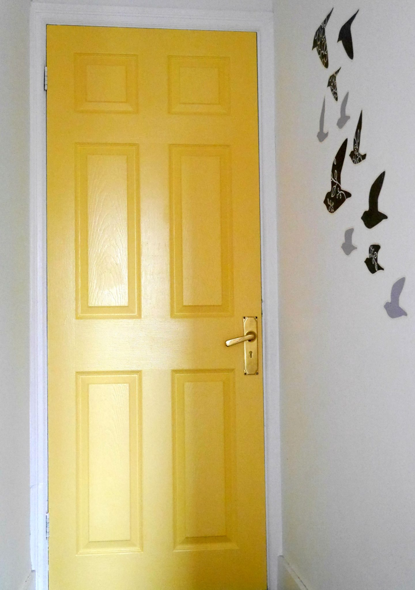 Yellow painted door - how to add colour to your family home
