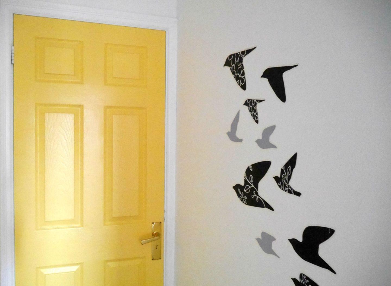 Yellow painted door with Crown Paint's Breatheasy Range