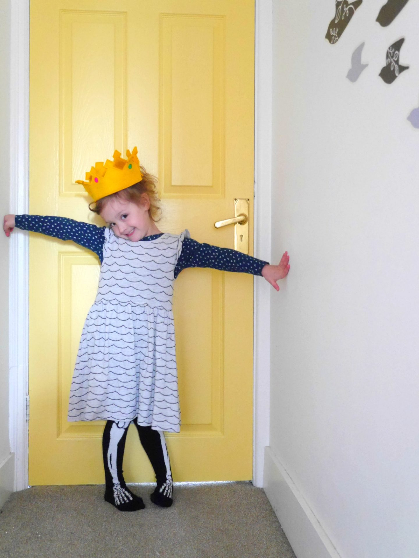 Yellow painted doors in  creative family homes