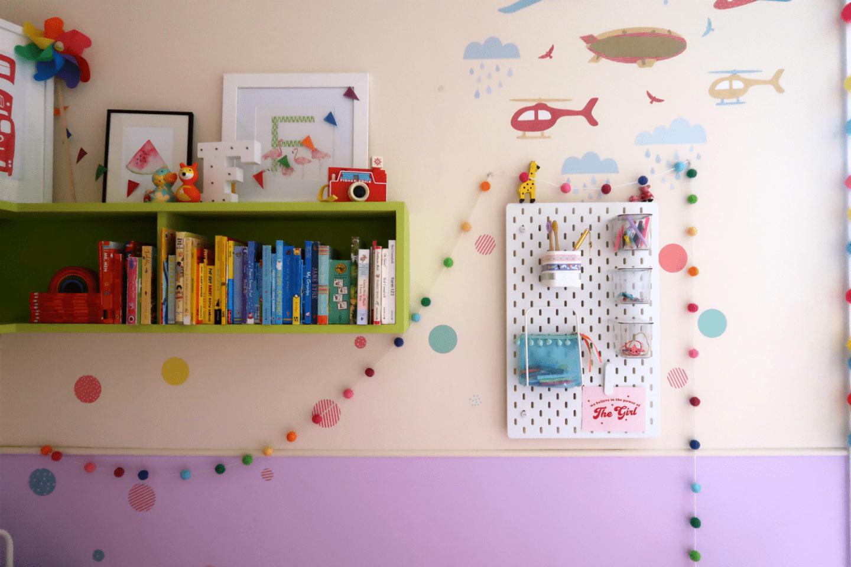 IKEA SKADIS hack in children's bedrooms