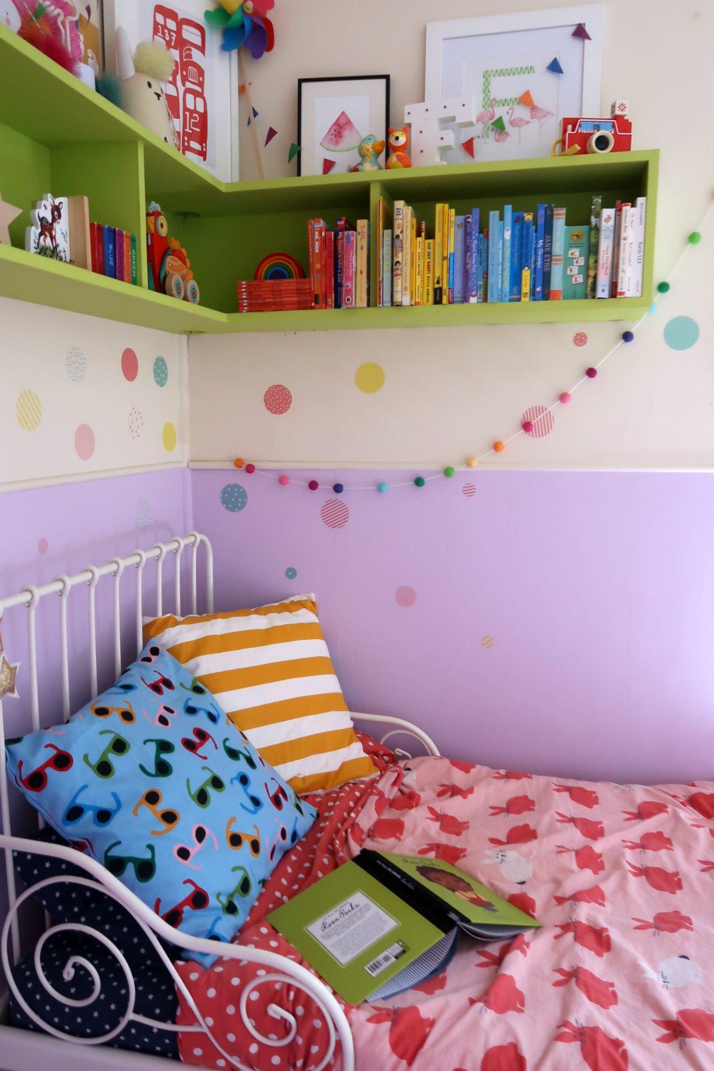 IKEA Minnen bed and IKEA cushions - IKEA school run hacks
