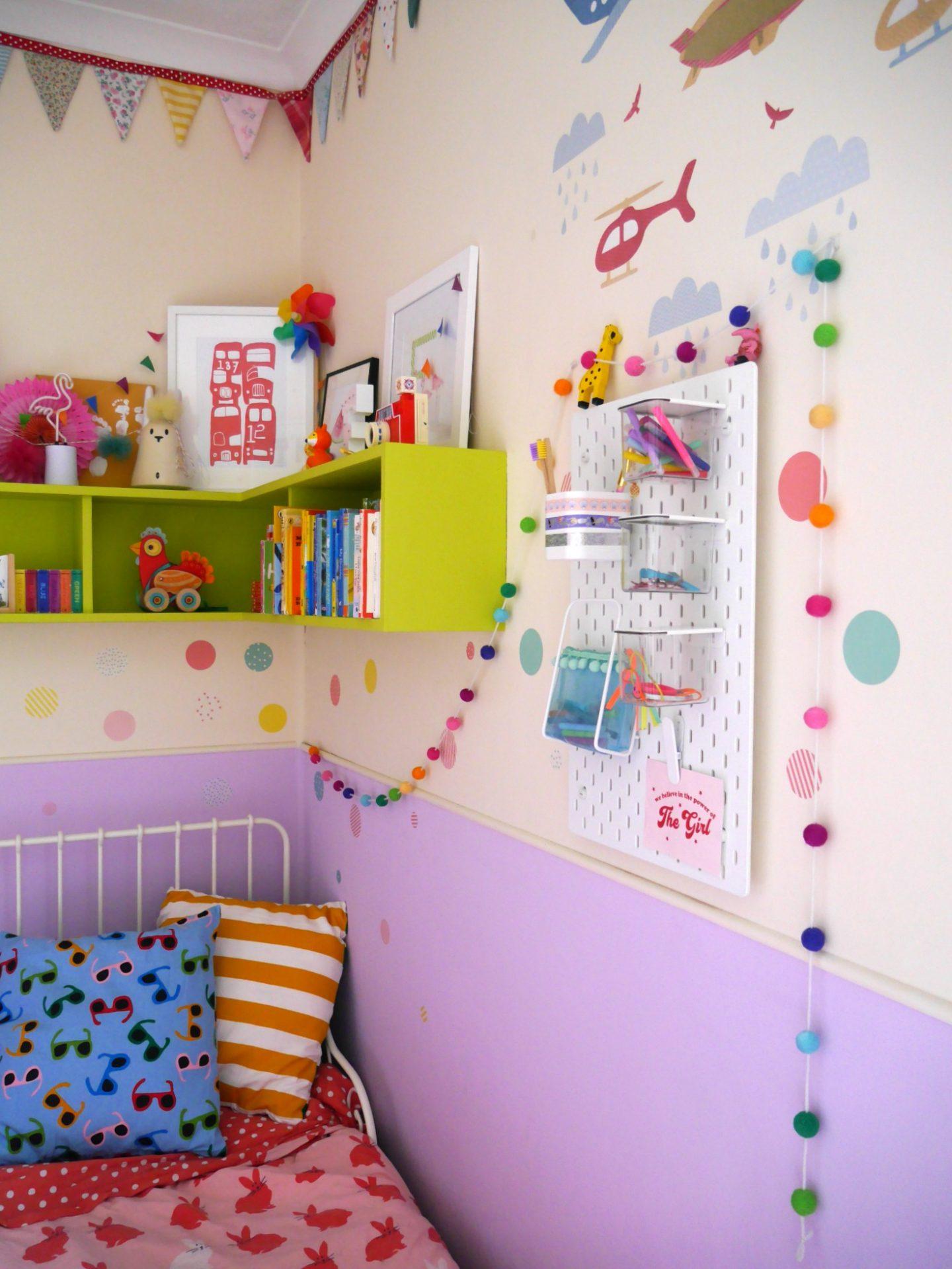 IKEA Skadis pegboard is children's bedrooms - IKEA school run hacks
