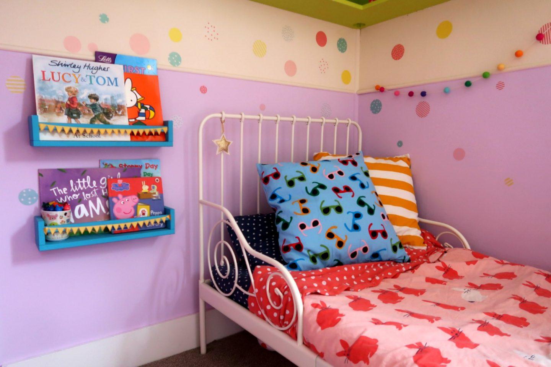 IKEA bed and bookshelves - IKEA school run hack