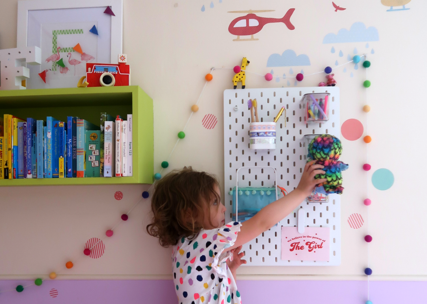 IKEA SKADIS pegboard and IKEA school run hacks