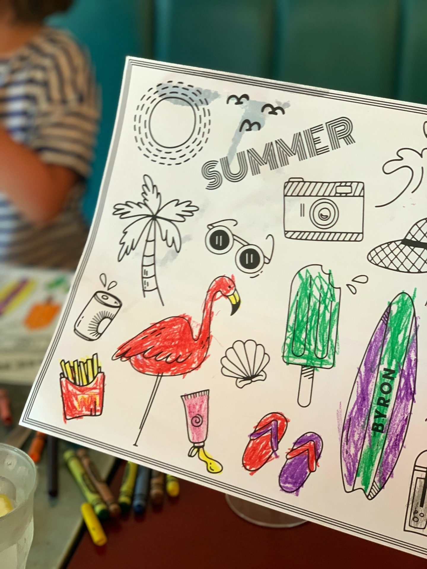 Summer at Byron hamburgers - childrens menu