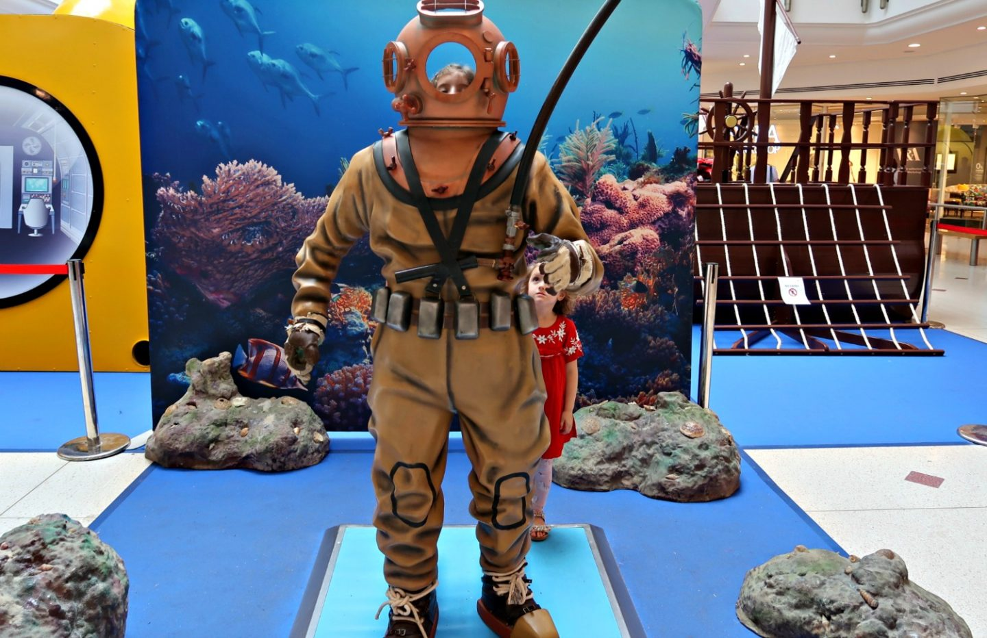 old fashioned diving suit at You, Me and The Sea Bromley