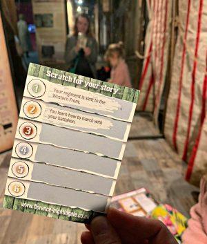 Florence Nightingale museum London - spanish flu exhibition scratch card