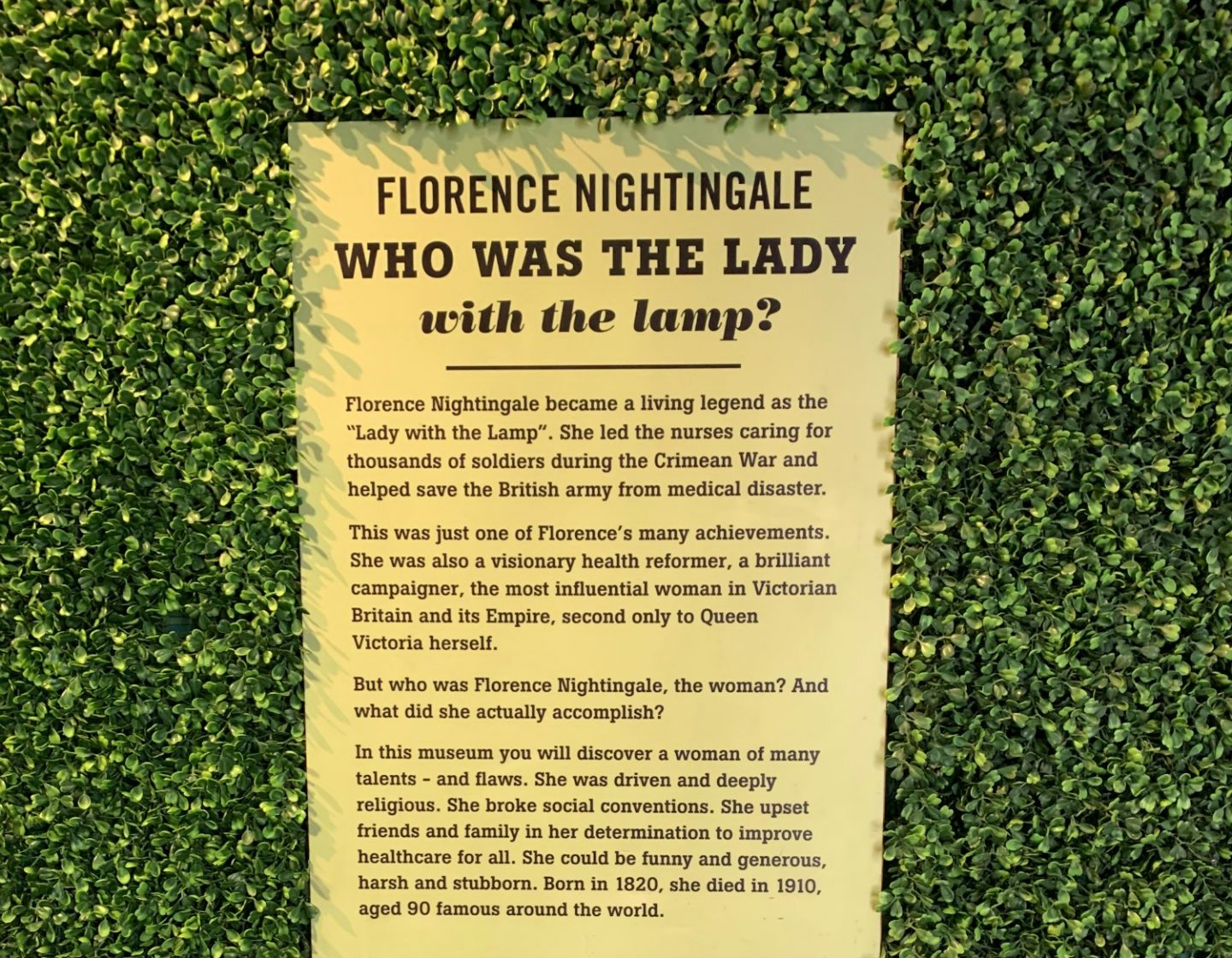 Who was Florence Nightingale mueum