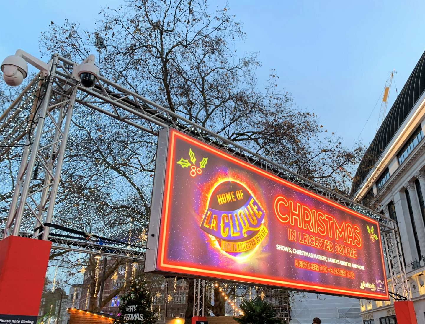 Leicester Square for Christmas