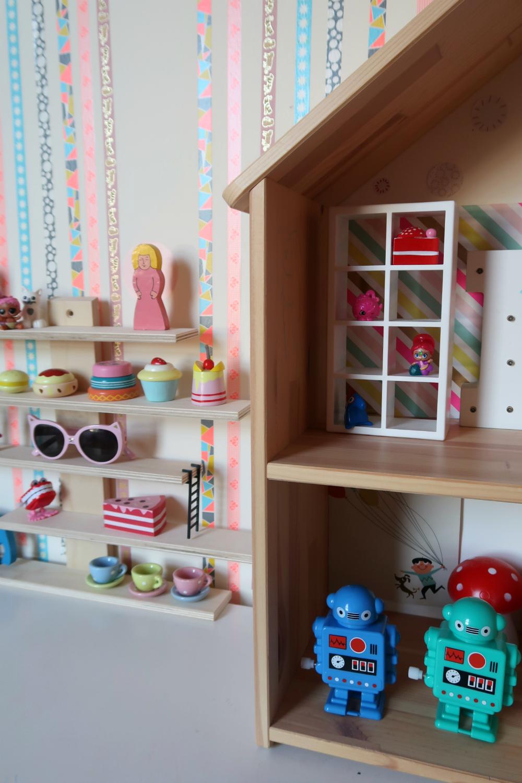 IKEA toy storage shelves
