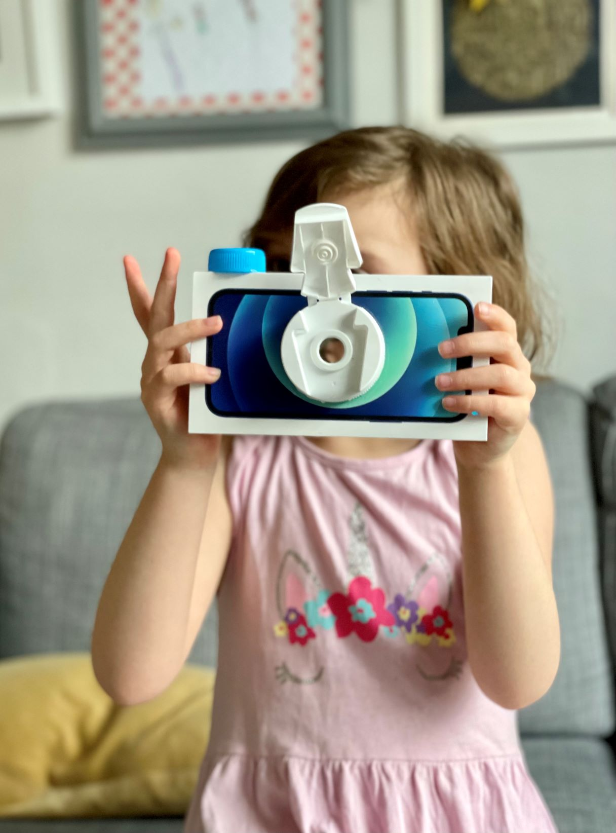 How to make a cardboard box camera from a phone box