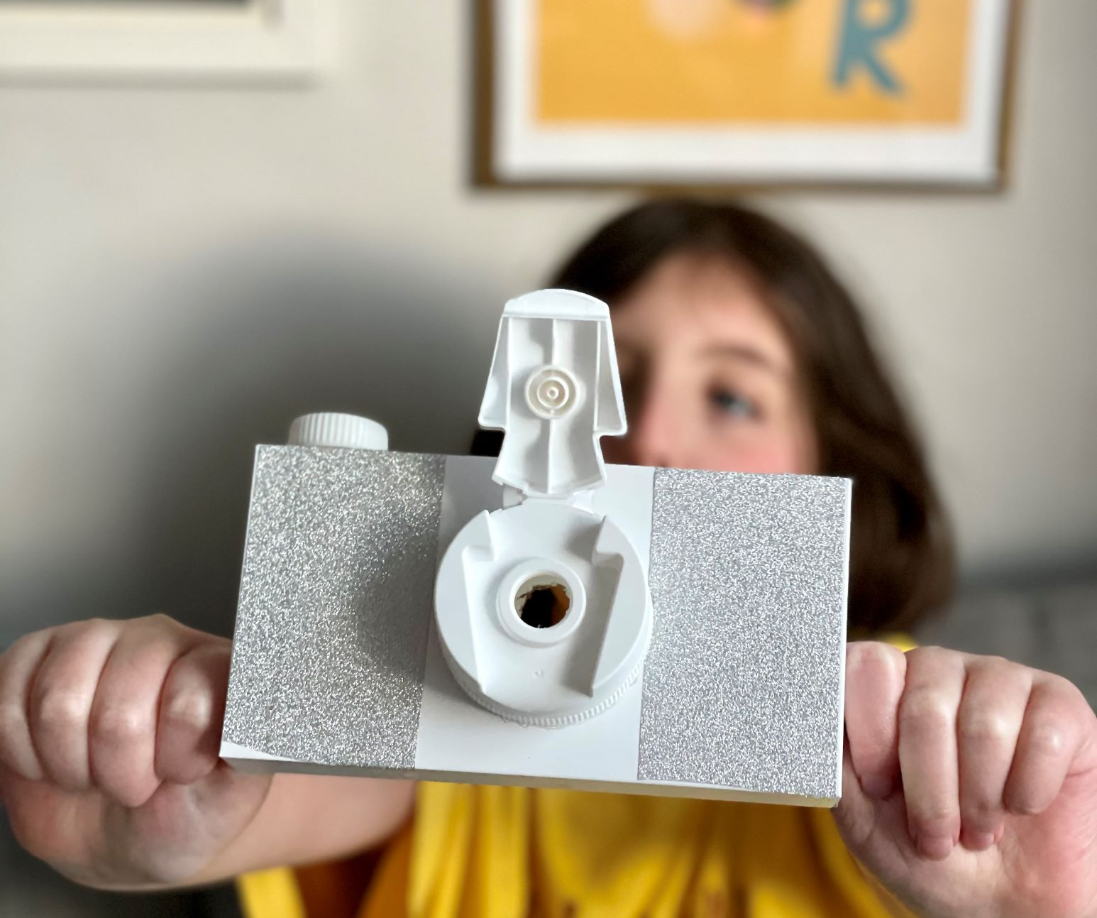 How to make a cardboard box camera for kids